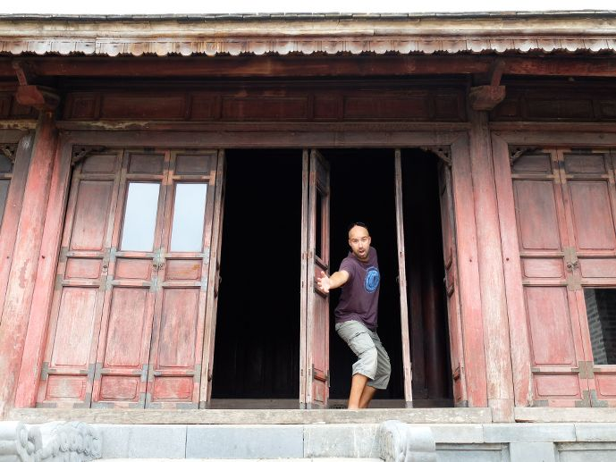 Tristan à Hué au vietnam blog voyage