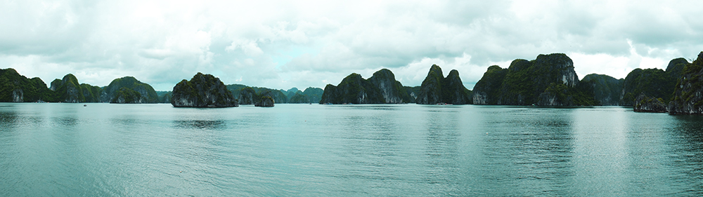 panoramique baie de Ha Long vietnam blog voyage