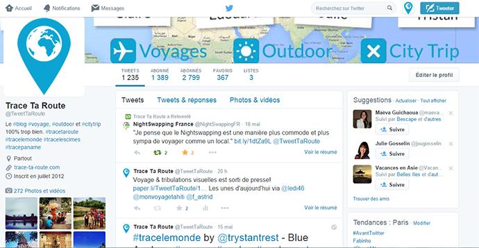 Trace Ta Route sur Twitter - TweetTaRoute