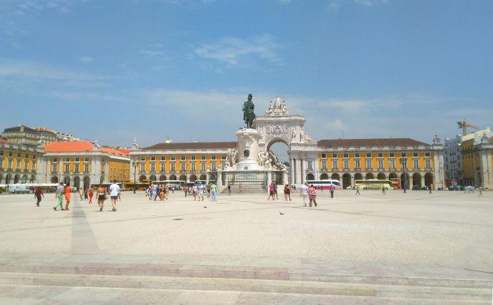 praça do comercio à Lisbonne