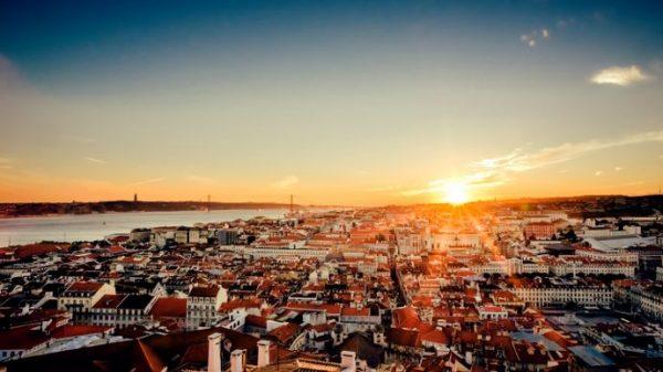 visiter lisbonne en 3 jours : coucher de soleil sur Lisbonne