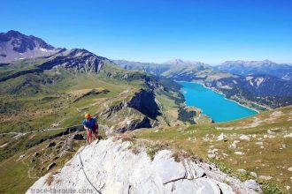 Via Ferrata de Roselend Roc du Vent et Lac de Roselend