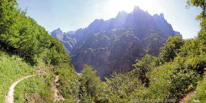 Le Pic de Tenneverge depuis le Pas du Boret