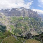 Vue panoramique sur le Pic de Tenneverge et le Fond de la Combe depuis le retour du Refuge de la Vogealle par le Bout du Monde