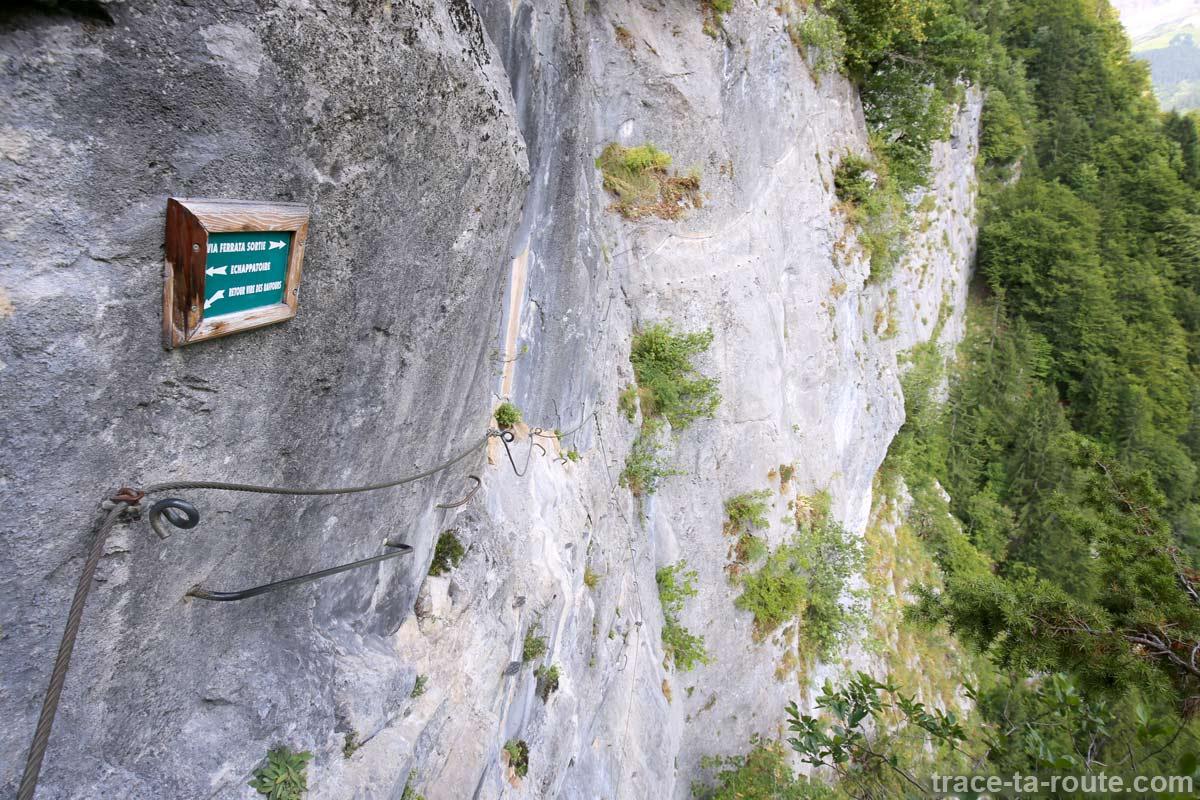 Échappatoire Via ferrata du Mont de Sixt-Fer-à-Cheval et La Becque