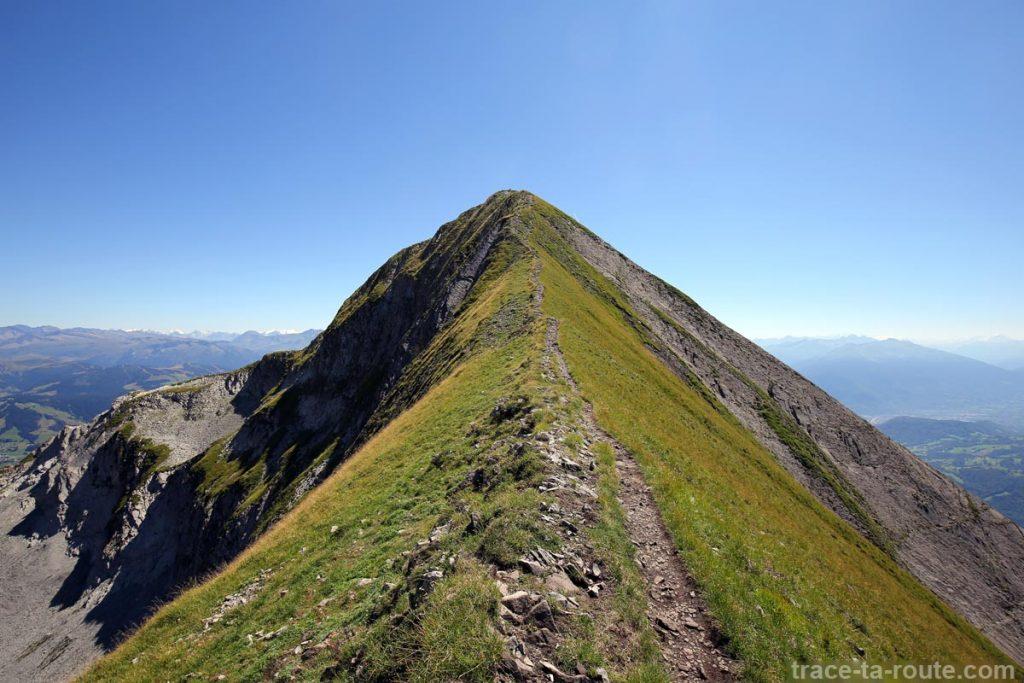 Arête (presque) au sommet du Mont Charvin