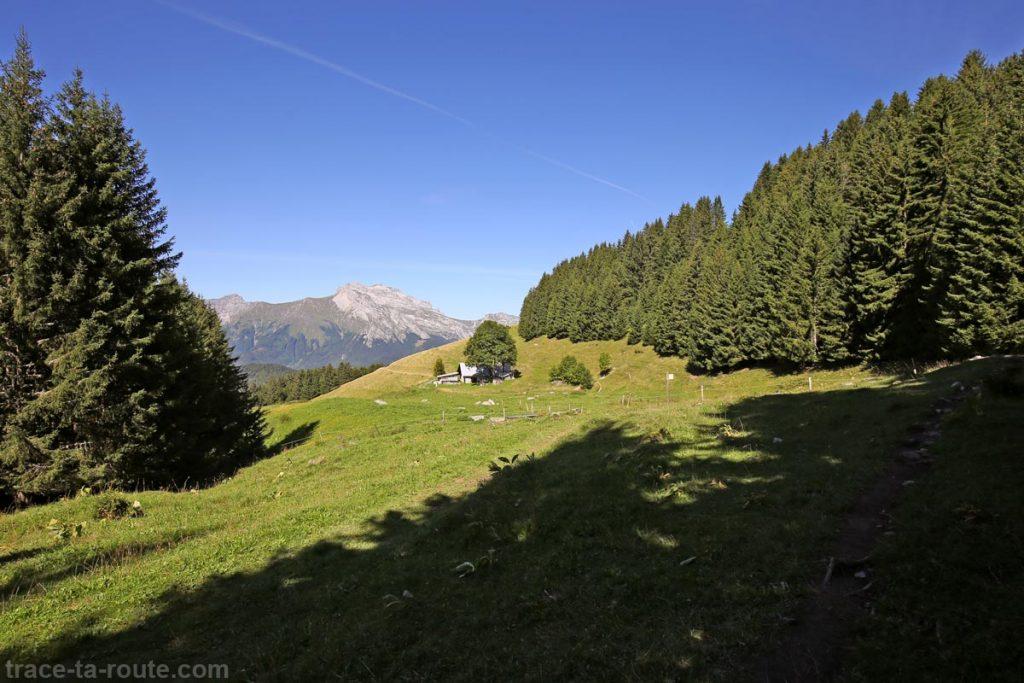 Chalet de La Praz sous l'Aulp de Marlens - Mont Charvin
