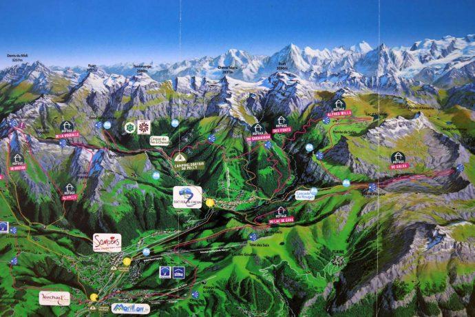 Carte des randonnées à Sixt-Fer-à-Cheval