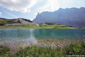 Le Lac d'Anterne avec la Tête à l'Âne et la Pointe d'Anterne en fond