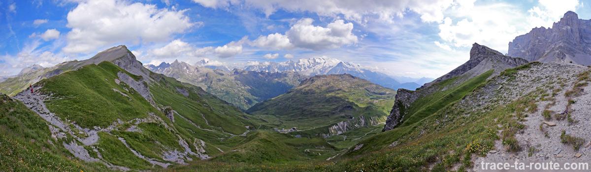 Vue sur le Massif du Mont-Blanc depuis le Col d'Anterne