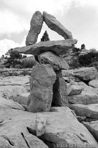 Assemblage de pierres sur le Plateau du Parmelan
