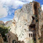 Panorama sur les montagnes de la gorge du Défilé de los Gaitanes - Caminito del Rey - El Chorro, Malaga, Andalousie, Espagne