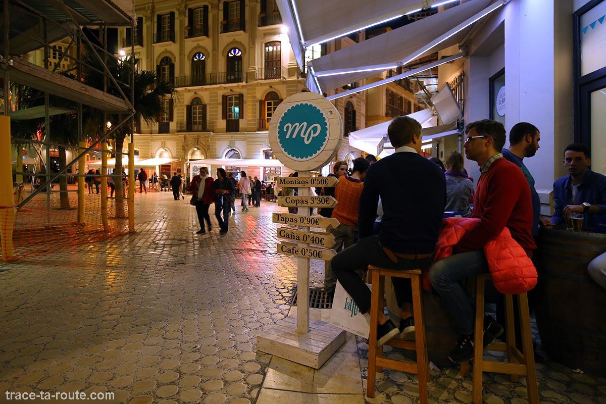 Terrasse bar à tapas Mercado Provenzal - Calle Duque de la Victoria / Plaza del Siglo, Malaga