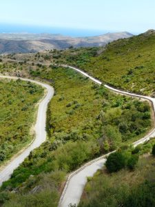 Route menan t à San Pere - Catalogne