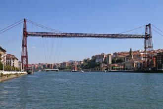 Pont de Biscaye (Puente Vizcaya / Puente Colgante Bizkaia) au-dessus de la Ria del Nervion - Portugalete / Getxo, Bilbao, Pays Basque