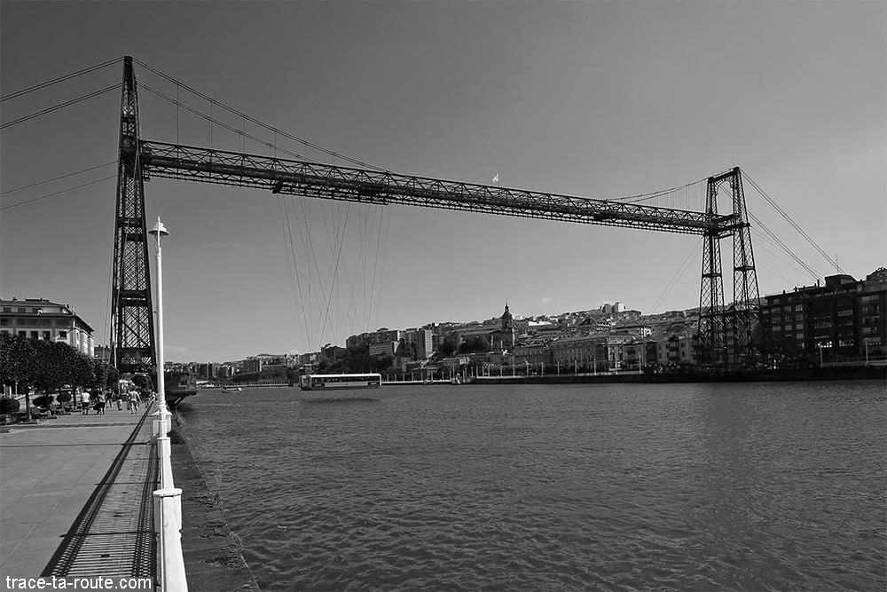 Pont de Biscaye (Puente Vizcaya / Puente Colgante Bizkaia) au-dessus du Nervion - Las Arenas / Portugalete - Getxo, Bilbao, Pays Basque