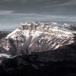 Margeriaz en neige - Bauges hiver - Vue depuis le sommet de la Pointe de la Galoppaz