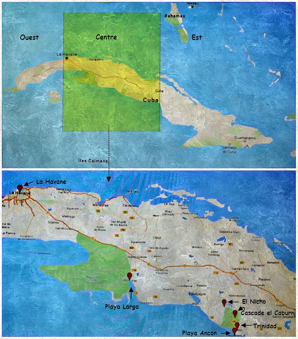 Carte Cuba Centre