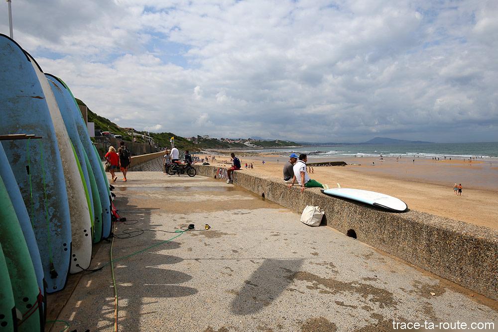 Surf sur la Plage de Bidart au Pays Basque