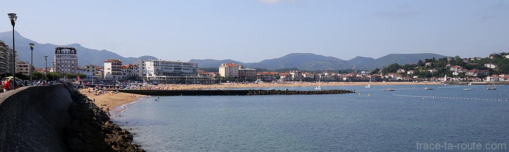 Bord de plage de Saint-Jean-de-Luz, Pays Basque