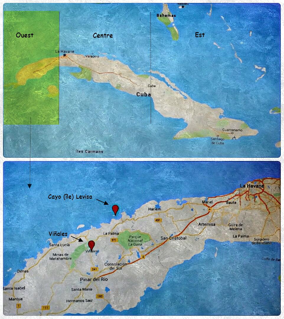 carte Cuba Ouest