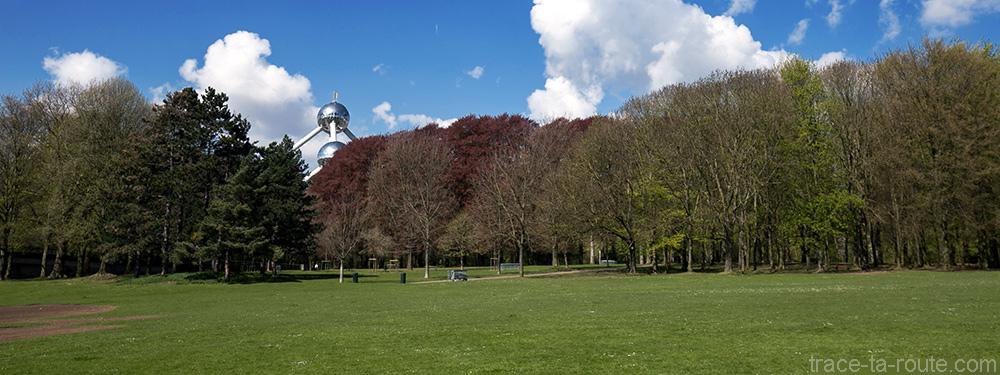 L'Atomium de Bruxelles dans le Parc d'Osseghem