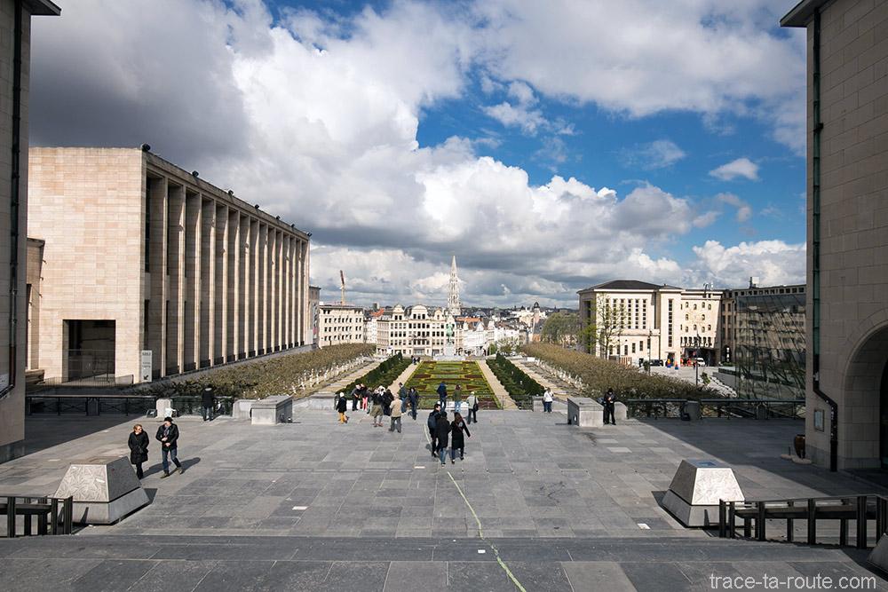 Vue sur Bruxelles depuis les Escaliers du Mont des Arts