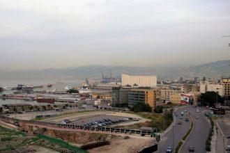 Vue de Beyrouth depuis la terrasse de l'Hôtel Gray