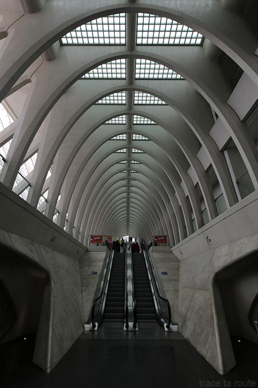 Architecture Gare des Guillemins Liège - Santiago Calatrava - escalators