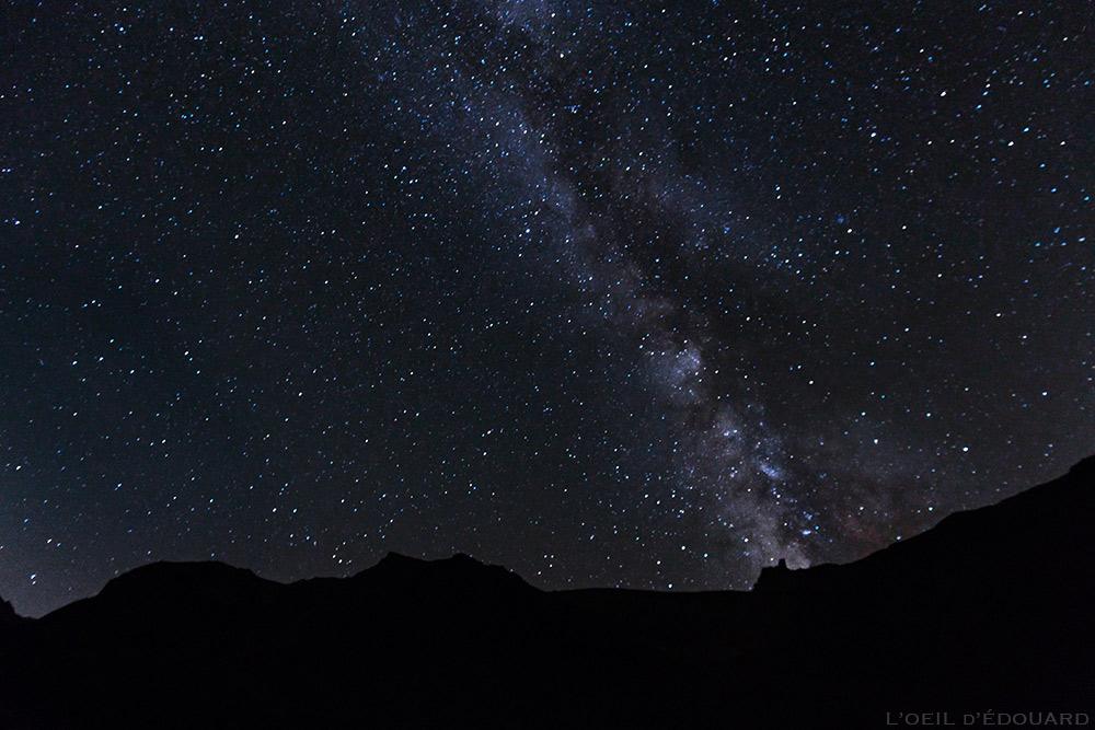 Ciel étoilé et voie lactée en Maurienne, bivouac sur le trek du Tour du Mont Thabor © L'Oeil d'Édouard