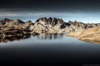 Le Lac Bramant avec les Aiguilles de l'Argentière en fond - Maurienne Savoie © L'Oeil d'Édouard