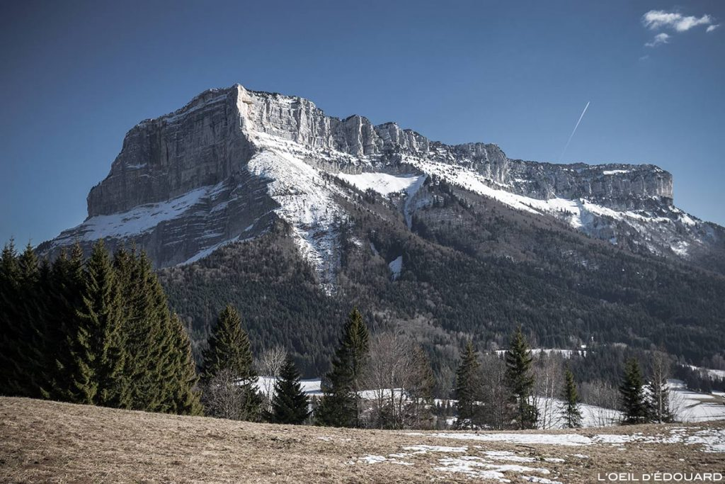 Le Mont Granier, face Nord et éboulement du pilier, Massif de la Chartreuse © L'Oeil d'Édouard