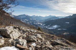Le Massif de la Chartreuse en hiver depuis le sommet de la Pointe de la Gorgeat