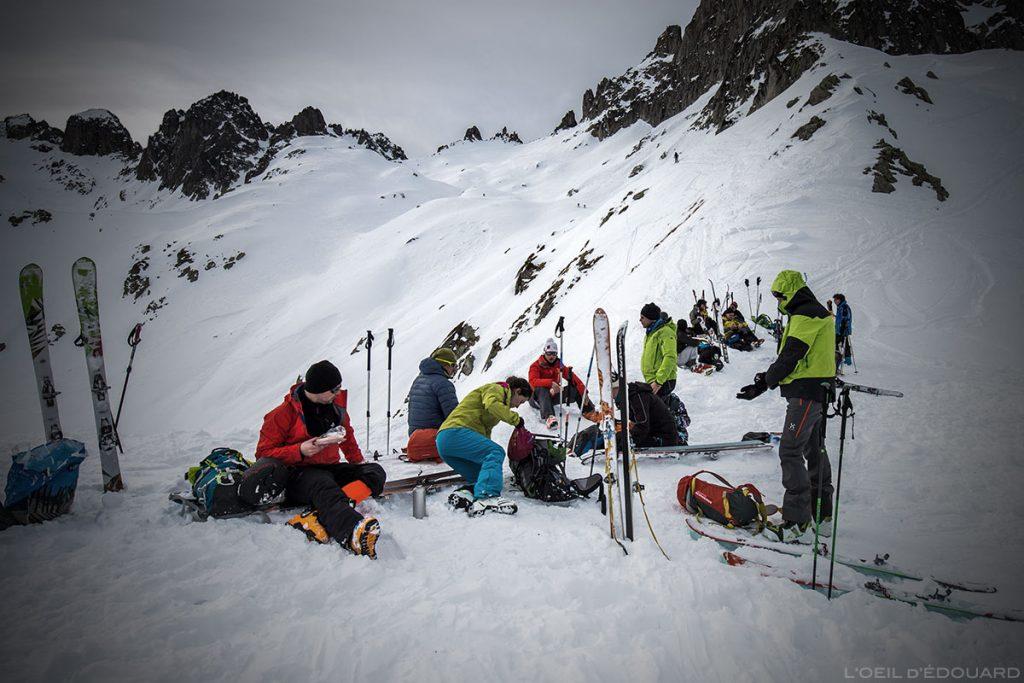 Ski en randonnée au Col de la Valette, Massif de la Lauzière