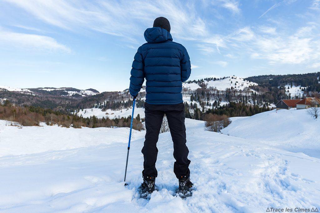 Test Doudoune Stretchdown Plus Hooded Jacket Mountain Hardwear - Plateau du Revard, Massif des Bauges, Savoie