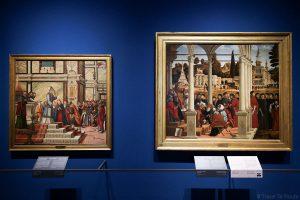 """""""Le Mariage de la Vierge"""" (1505) """"Discussion entre Saint-Stéphane et les Docteurs dans le Sanhedrin"""" (1514) Vittore CARPACCIO - Pinacothèque de Brera, Milan"""