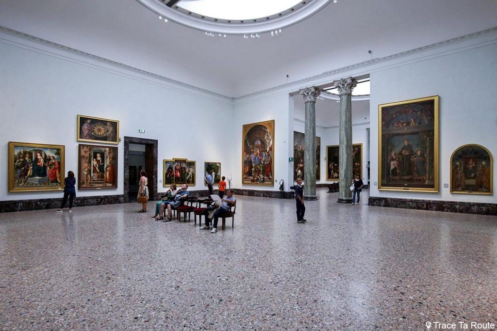 Salle exposition Musée Pinacothèque de Brera de Milan - Peintures XVe XVIe siècle