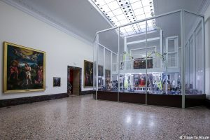 Salle atelier de restauration Pinacothèque de Brera de Milan