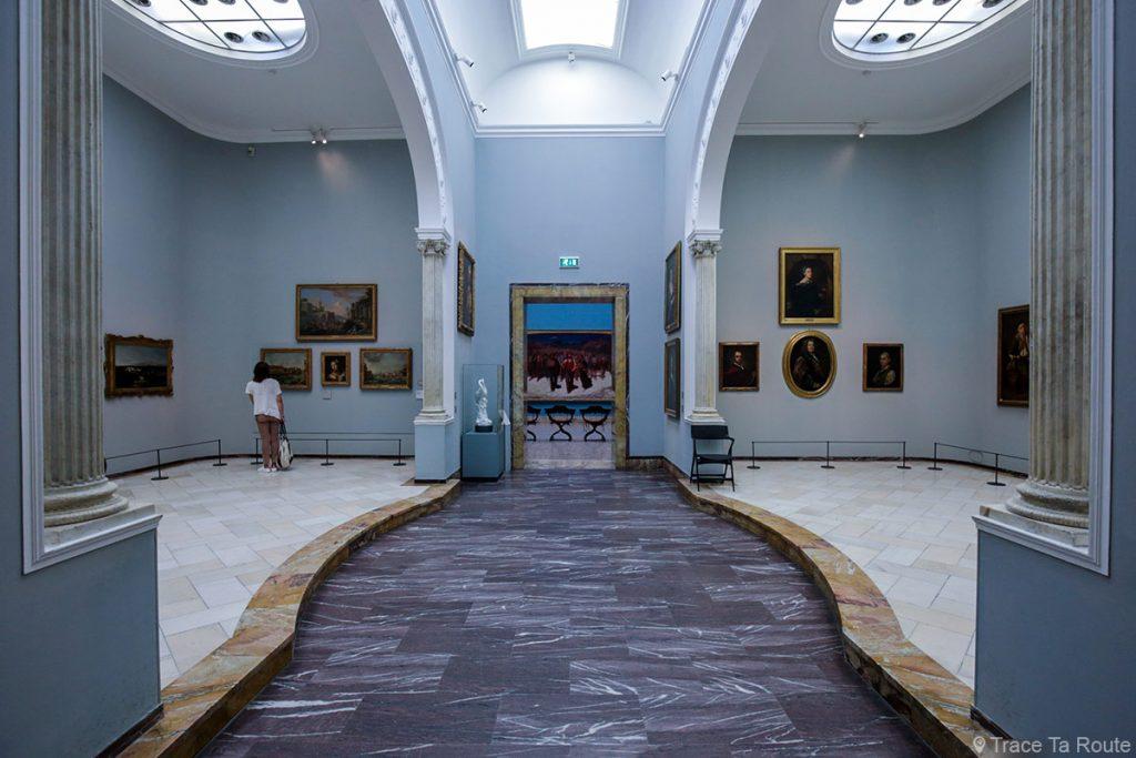Salle exposition Musée Pinacothèque de Brera de Milan - Peintures XVIIIe siècle