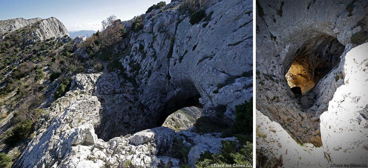 Grotte aux Hirondelles, Le Garagaï vers la Croix de Provence, Montagne Sainte-Victoire