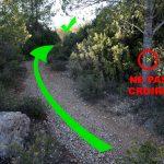 Itinéraire sentier randonnée Montagne Sainte-Victoire - départ depuis le Parking de l'En Chois
