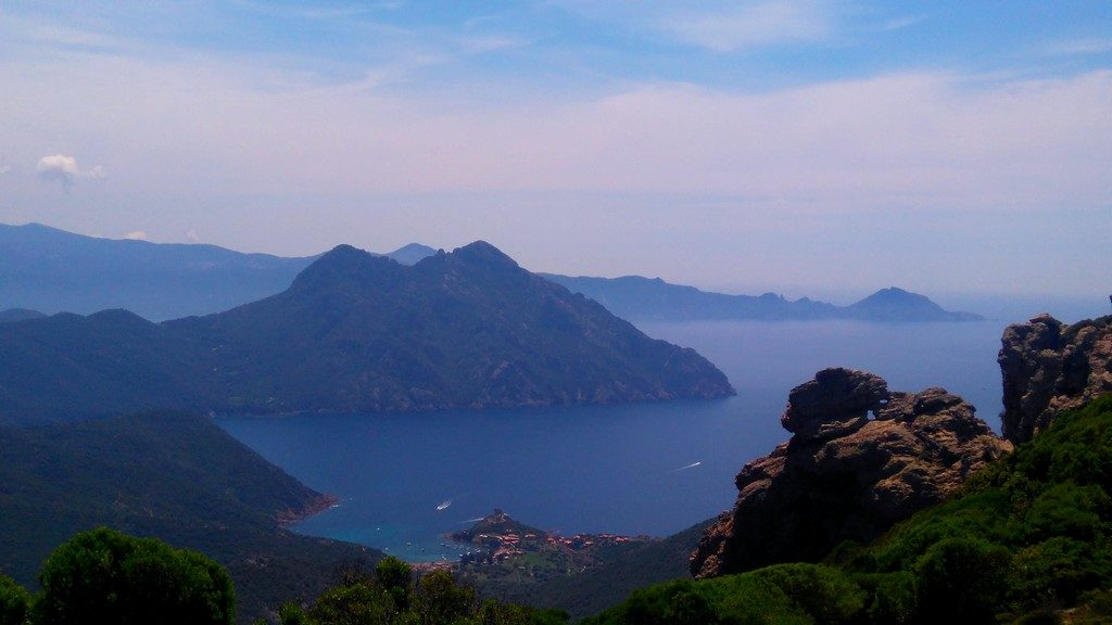 Baie de Girolata, Tra Mere e Monti, depuis Galeria, randonnée, Corse