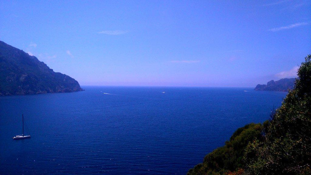 Vue Bleue, baie de Girolata, Corse, sentier du Douanier, Mare e Monti