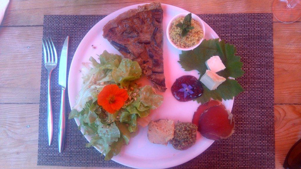 Assiette Corse au Gobi Café à Girolata