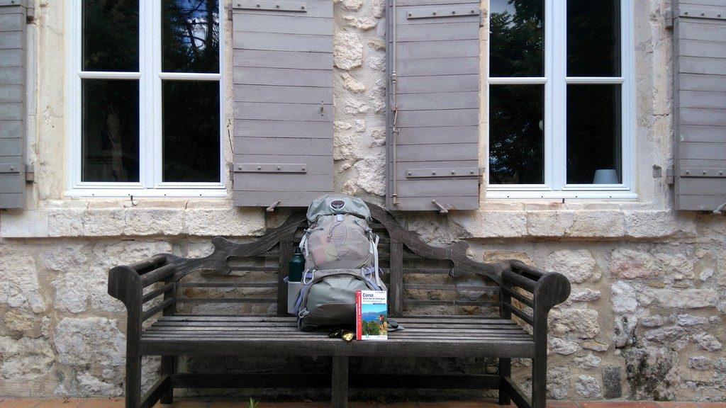 Préparation au Mare e Monti Corse, mon sac à dos Osprey rempli