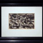 Sintesi di un paesaggio di velocità da un treno (1913) Carlo CARRÀ - Visite exposition Tutti in moto ! (2017) Musée Palazzo Pretorio à Pontedera (Valdera, Toscane, Italie)