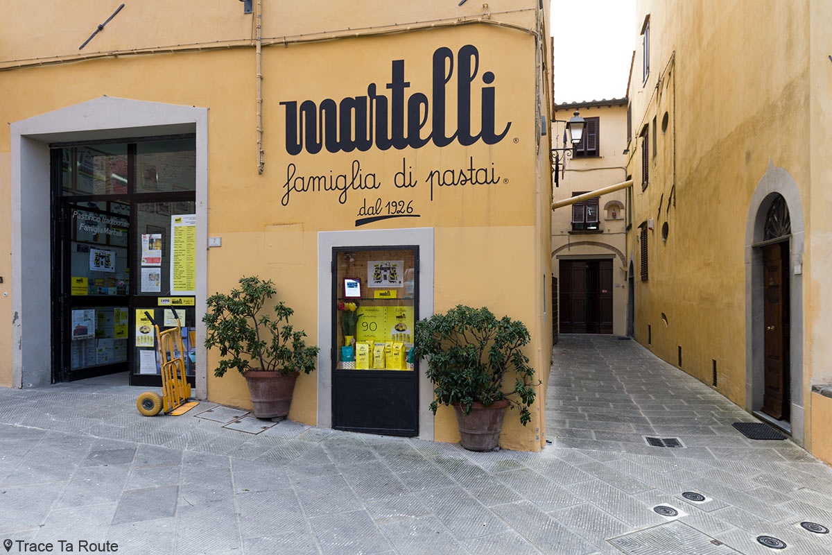 Gastronomie Toscane, Italie - Fabrique artisanale de pasta Martelli, Lari (Valdera)