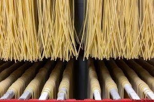 Gastronomie Toscane, Italie - Pâtes Spaghetti, fabrique artisanale de pasta Martelli, Lari (Valdera)