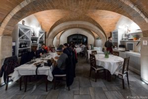 Salle du restaurant La Piccola Lanterna, Pontedera (Valdera, Toscane, Italie)