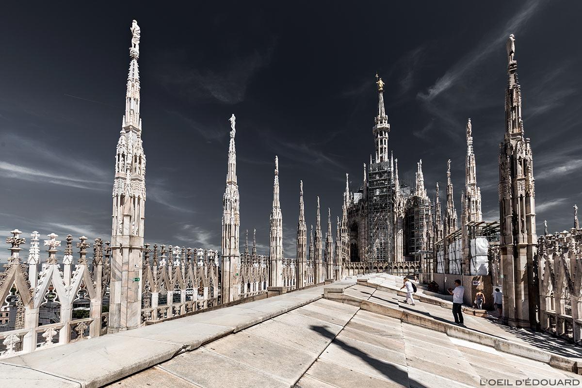 Toit Terrasse au sommet de la Cathédrale de Milan - Terrazza Duomo di Milano Terraces © L'Oeil d'Édouard